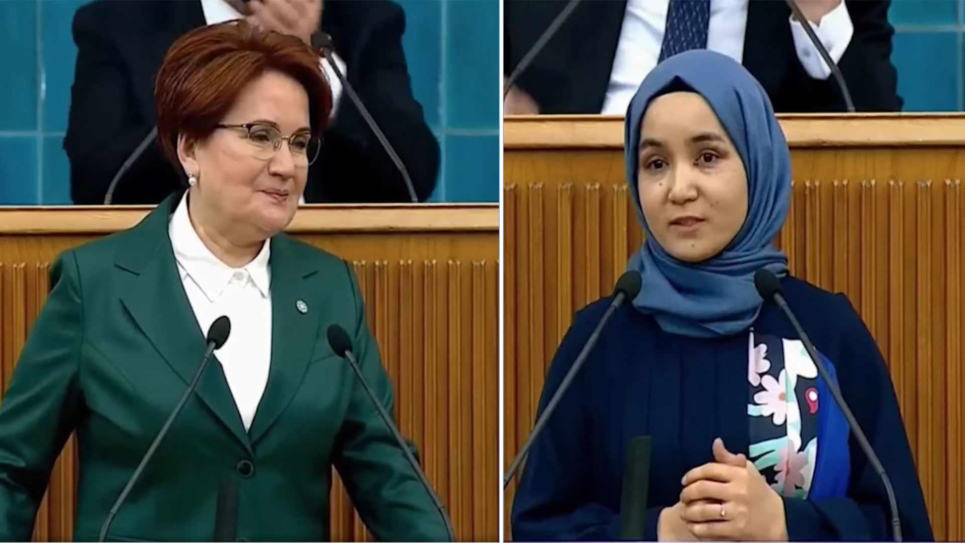 Meral Akşener, Doğu Türkistanlı Nursiman Abduraşid'i kürsüye çıkarınca TBMM TV yayını kesti! - HaberMotto