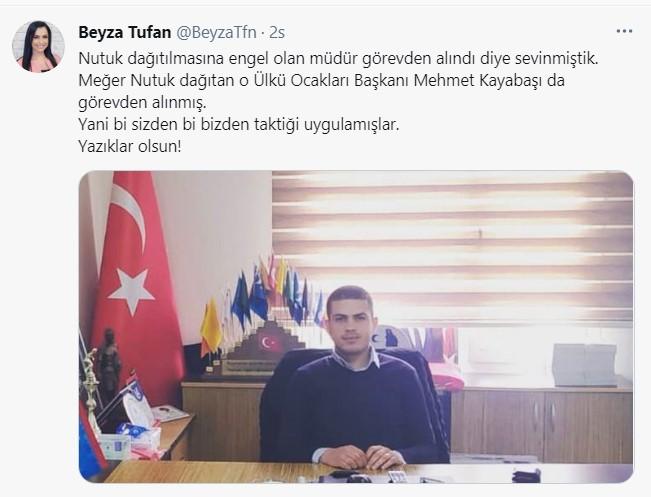 Mersin'de nutuk dağıtılmasını isteyen Çamlıyayla Ülkü Ocakları Başkanı  Mehmet Kayabaşı görevden alındı! - HaberMotto